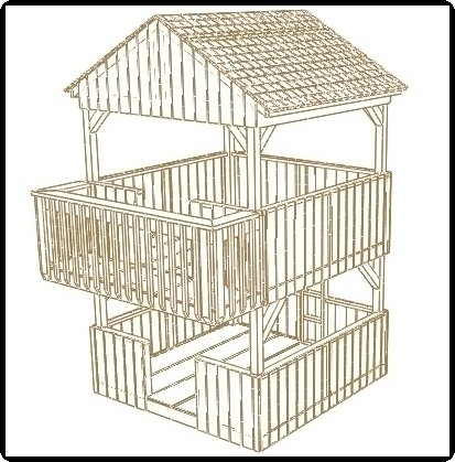 jungle gym and playhouse fort swing set plans 6