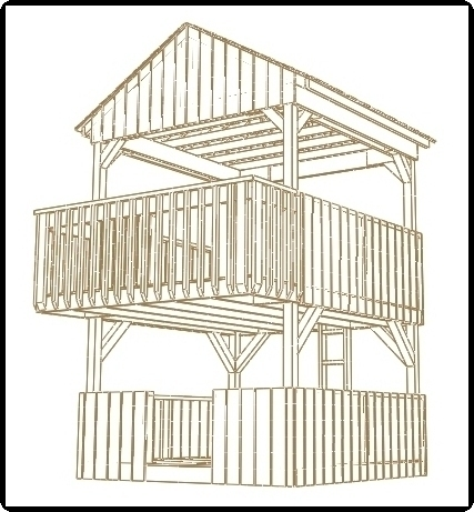 jungle gym and playhouse fort swing set plans 7