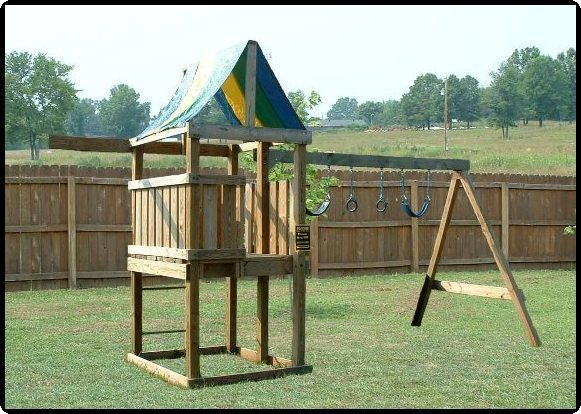 jungle gym and playhouse fort swing set plans 12