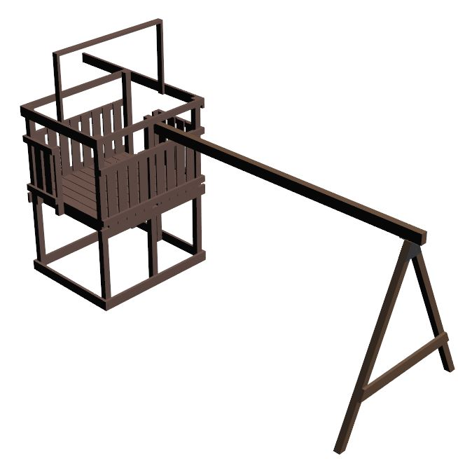 jungle gym and playhouse fort swing set plans 9