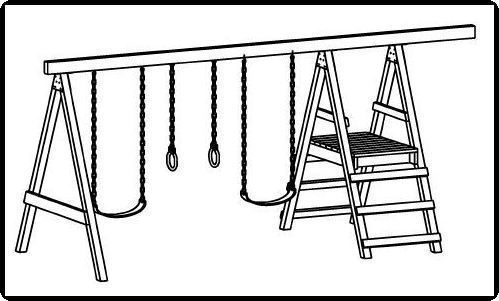 jungle gym and playhouse fort swing set plans 11