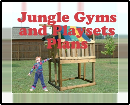 Jungle Gym Plans - Kids Playset and Cubbyhouse Fort Plans - Download