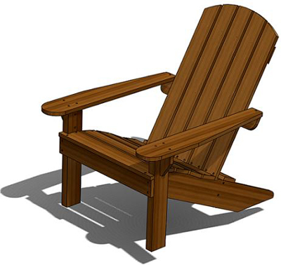 adirondack deck chair outdoor wood plans download