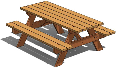 Premium Picnic Table, Outdoor Wood Plans, DOWNLOAD