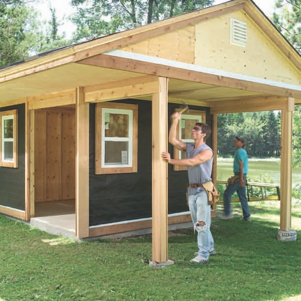 This is a great starter shed, small, easy to build, for the beginner.
