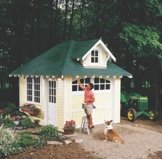 free sample garage and cottage shed plans