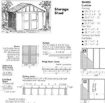 Free 10X10 Shed Plans Blueprints
