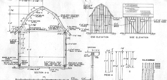 antique shed plans