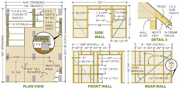 woodshed framing plan