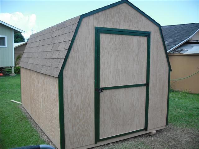 Gambrel Roof Shed Plans side view