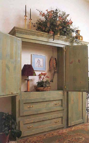 Armoire furniture wood working plan for download