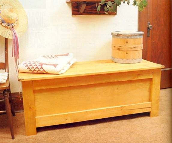 rustic hope chest furniture wood working plans for download