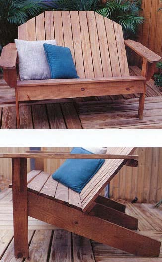 adirondack sofa outdoor wood working plans for download