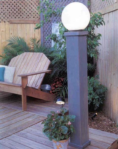Yard Lights canopy wood working plans for download