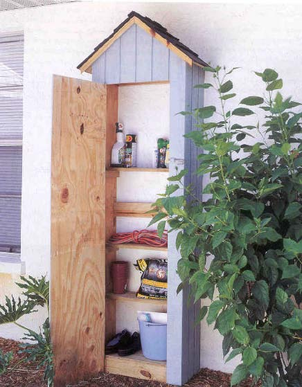outdoor storage center wood working plans for download