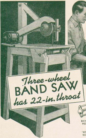 Three Wheel Band Saw plans for download
