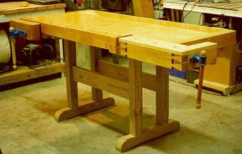 Traditional Wood Workbench, Workshop Wood Plans, IMMEDIATE DOWNLOAD