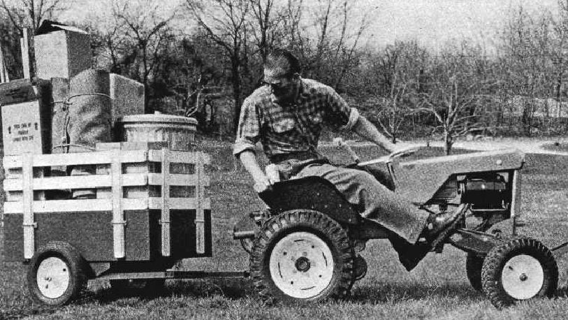 Handy Yard Trailer Workshop Tool Plans IMMEDIATE DOWNLOAD – Garden Tractor Trailer Plans