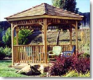 SAMPLE Gazebo Plans 06, 10 ft Square, Hip Roof Gazebo, IMMEDIATE DOWNLOAD - Click Image to Close