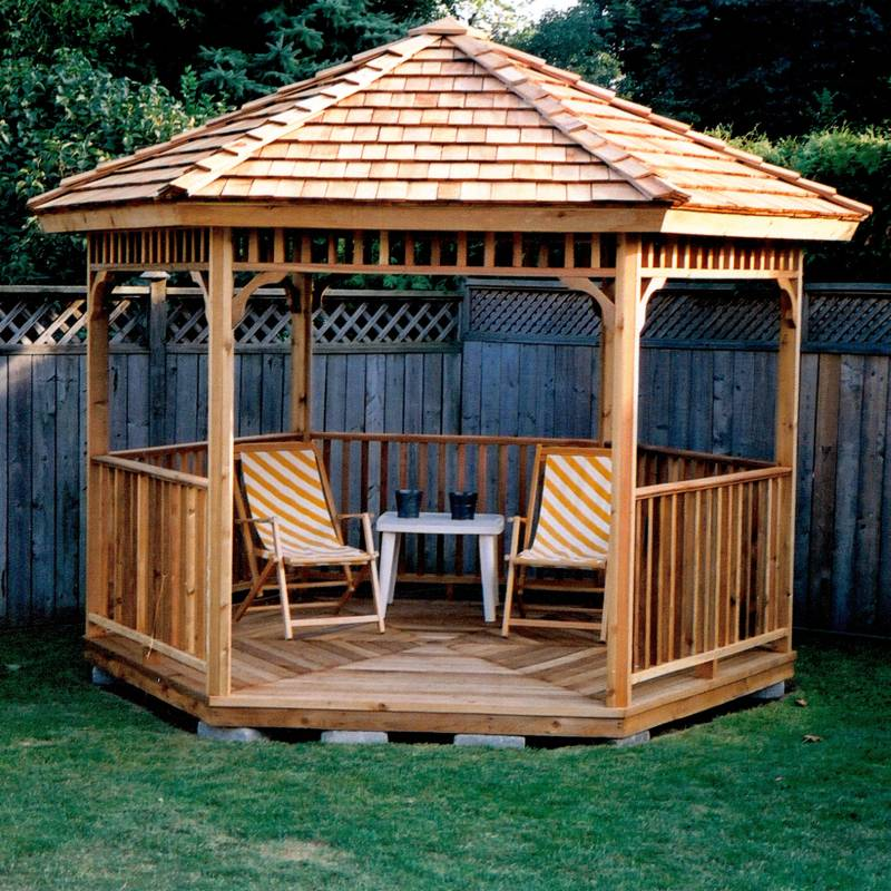 SAMPLE Gazebo Plans 04, 10 ft Hexagon Gazebo, IMMEDIATE DOWNLOAD