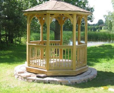 SAMPLE Gazebo Plans 01, 8 ft Octagon Gazebo, IMMEDIATE DOWNLOAD