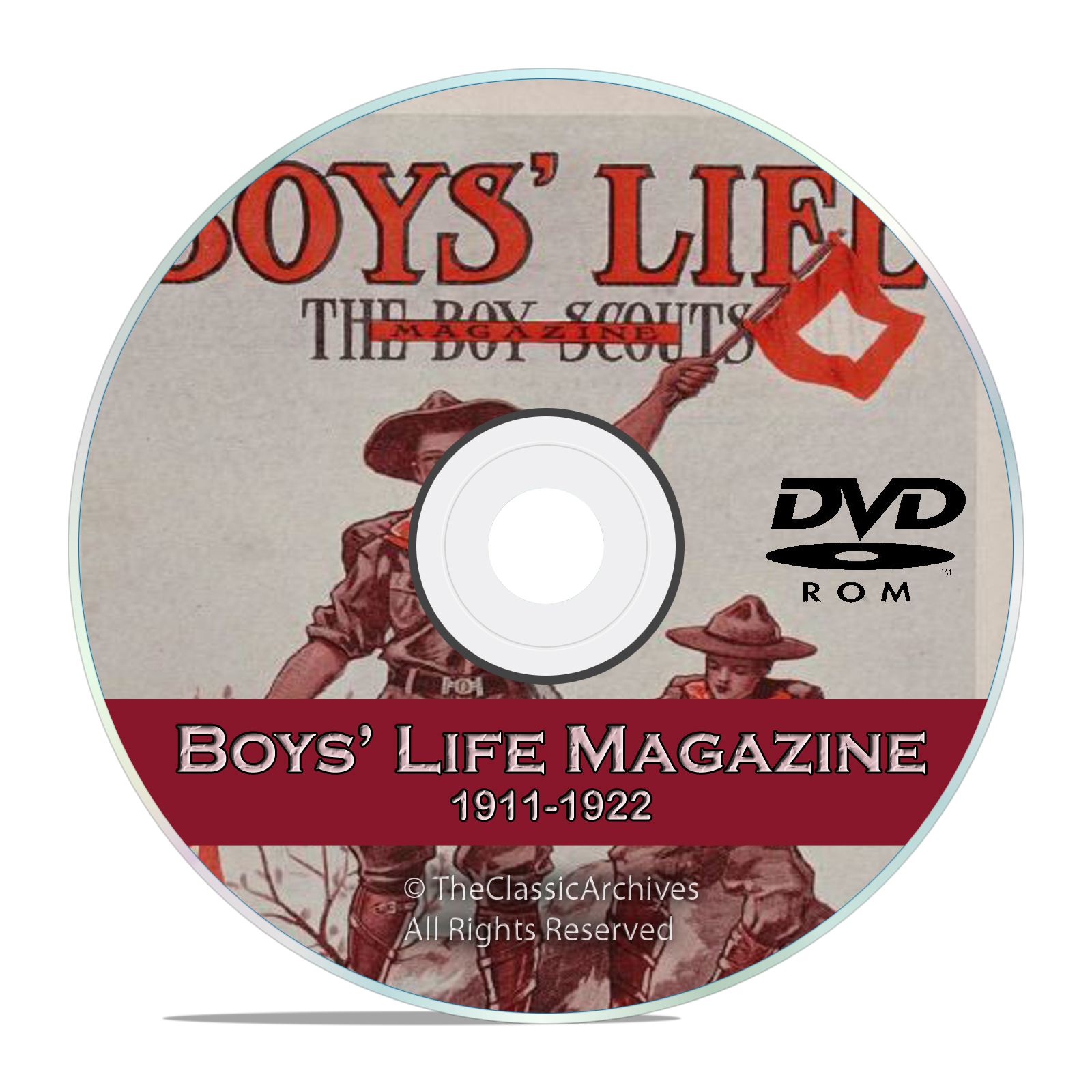Vintage Boys Life Magazine, (Boy Scouts) 1911-1922, 140 old issues, DVD