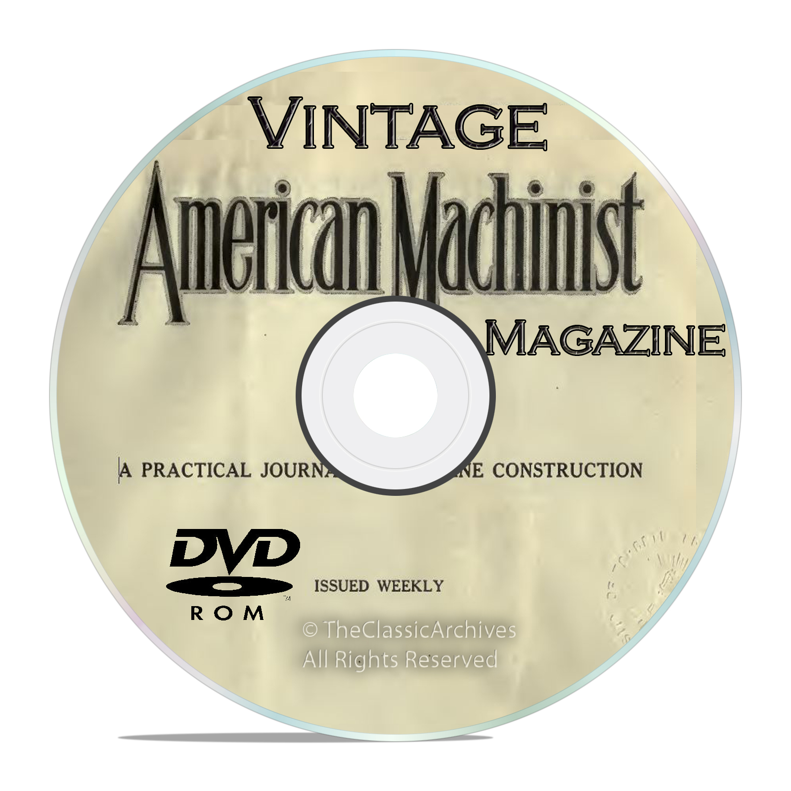 Vintage American Machinist Magazine, Machinery Handbook Collection DVD