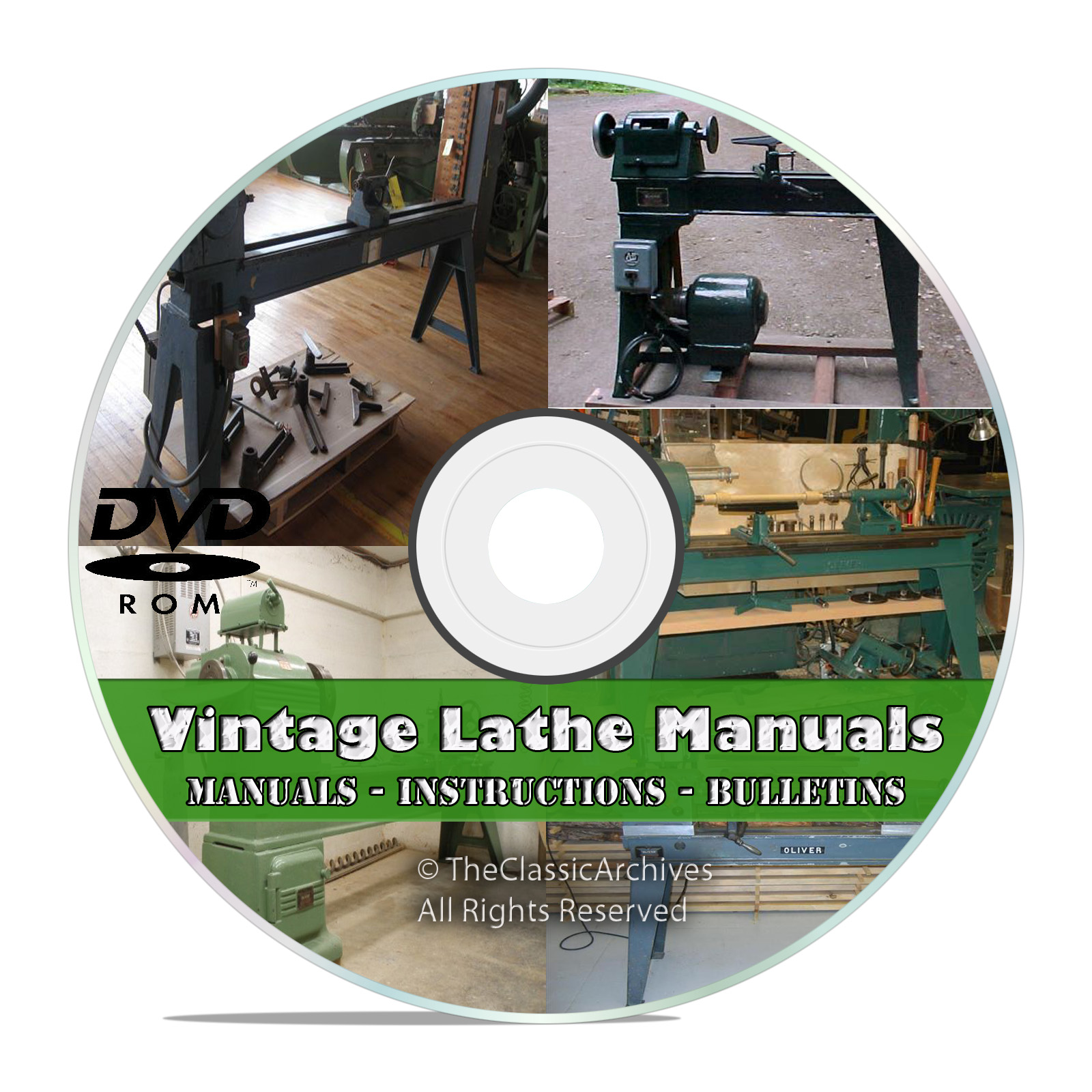 Lathe Owners Manuals, Instructions, Parts List, Atlas, Monarch Machine, DVD