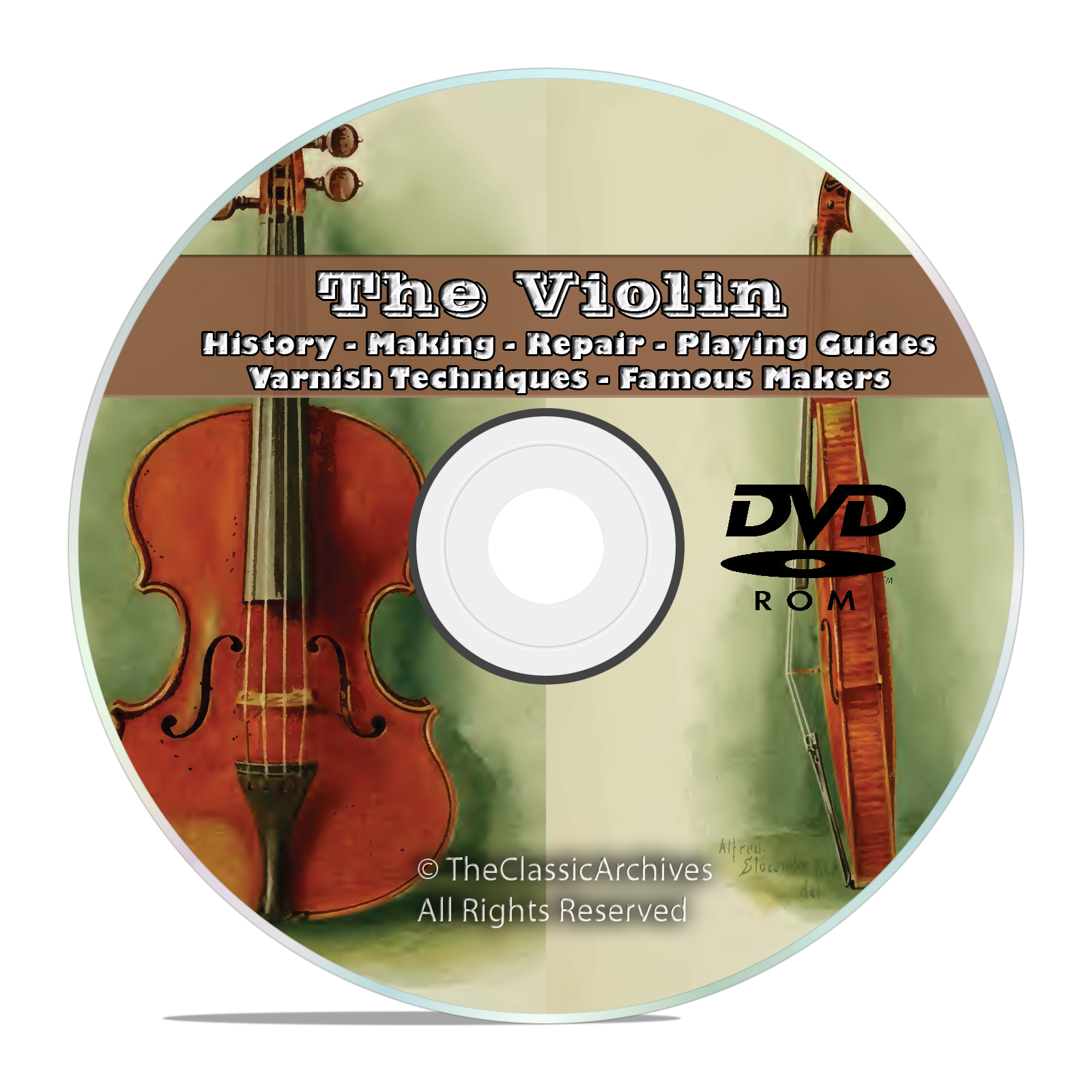 Violin Fiddle, History Making, Repair How to Restore, Play, Varnish DVD