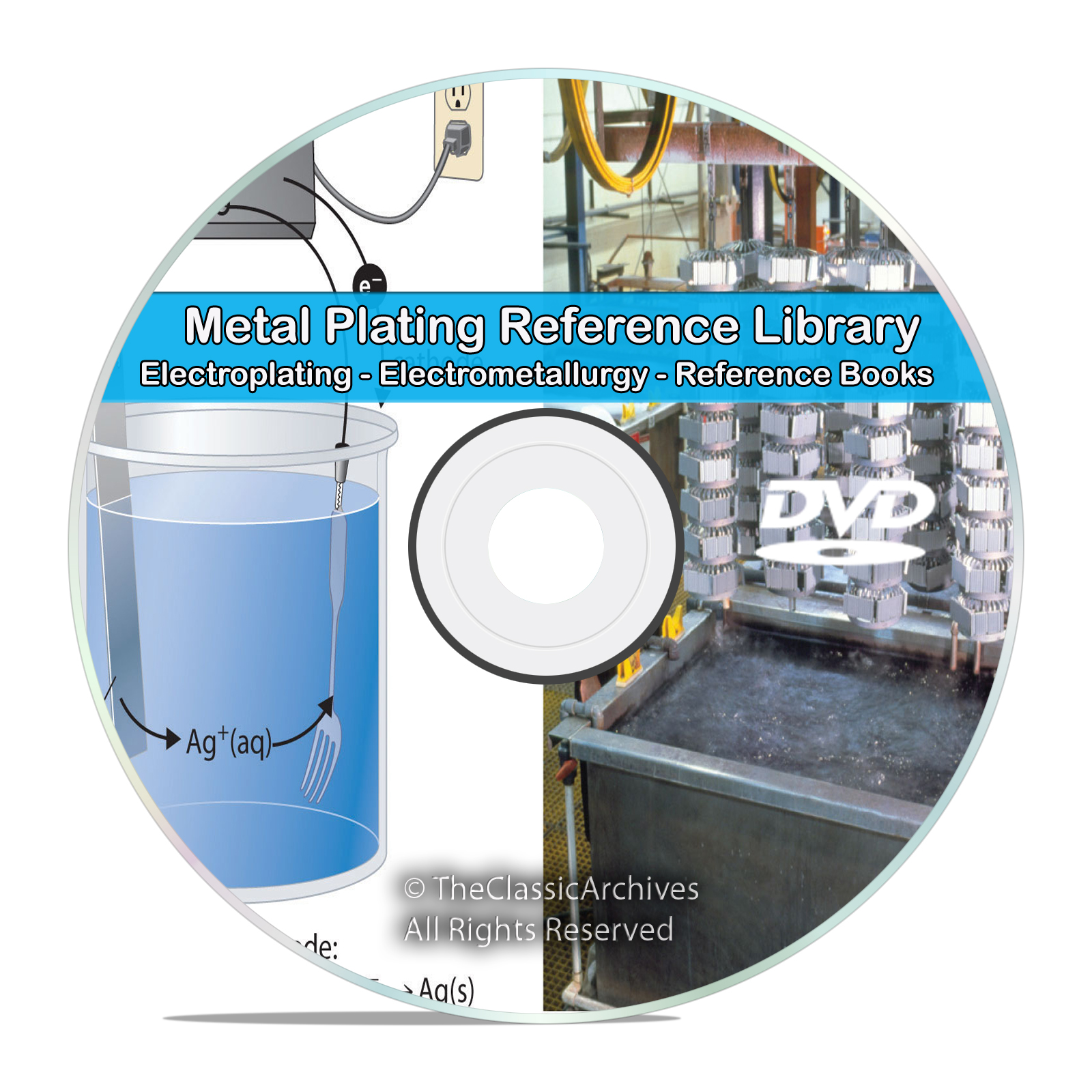 Electroplating Electrometallurgy Metal Plating Gold Silver Copper Books DVD