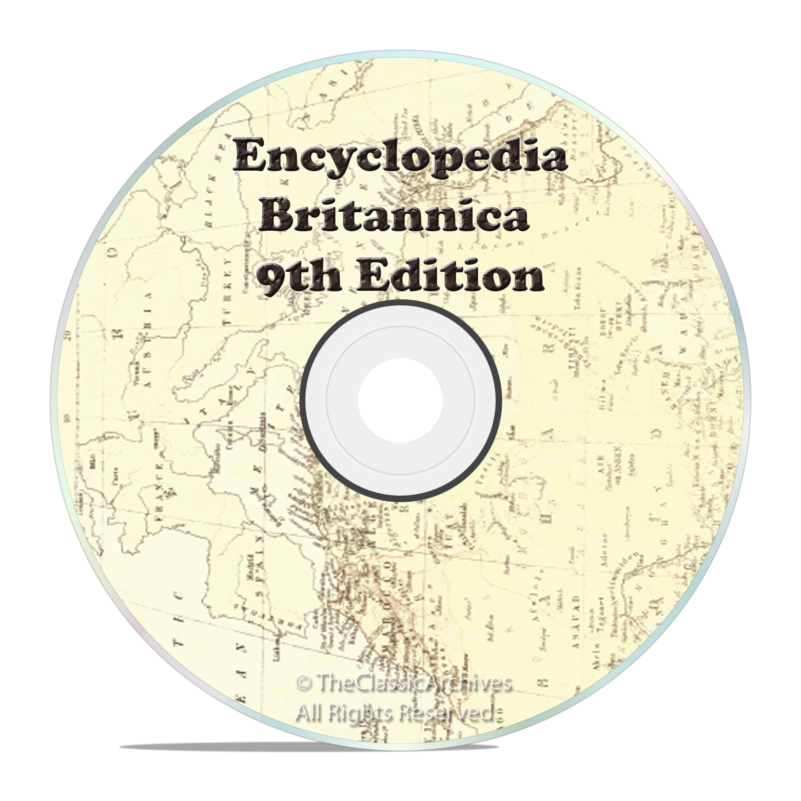 1875 9th Edition of Encyclopedia Britannica on one DVD - Snail Mail