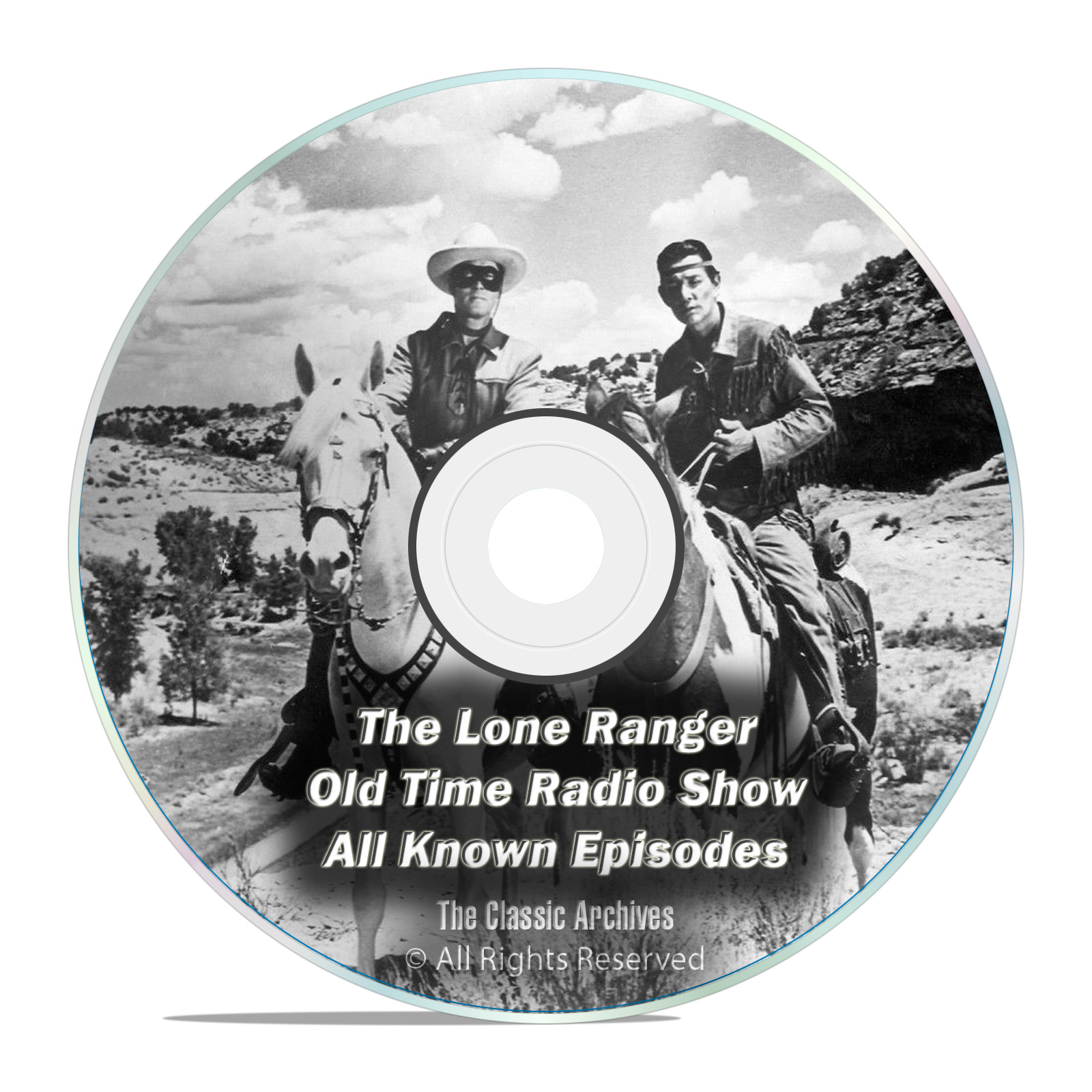 The Lone Ranger, 2,357 Shows, Complete Set, Old Time Radio MP3 2 DVD SET