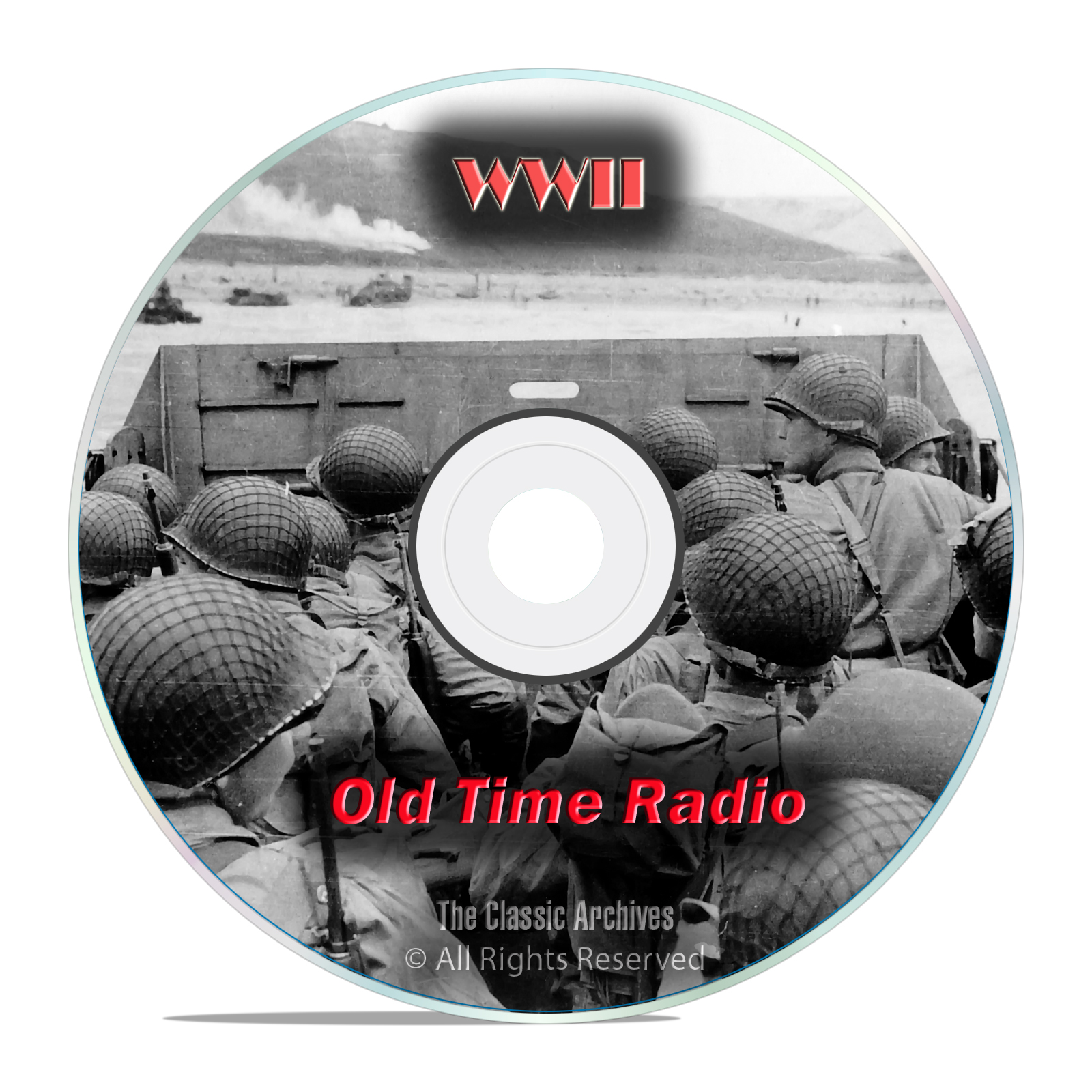 World War II Radio Broadcasts, WWII, 1,171 Old Time Radio Shows, OTR, DVD