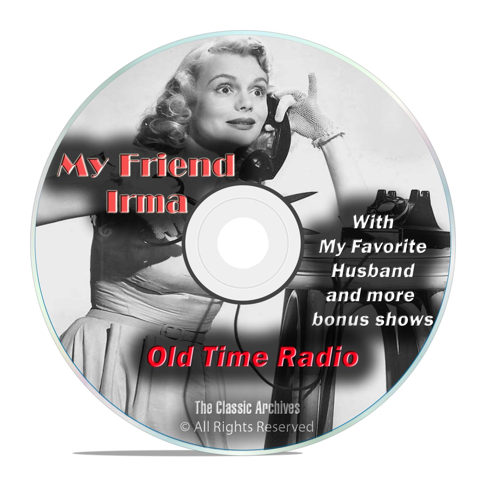 My Friend Irma, + My Favorite Husband, 596 Old Time Radio Shows, OTR, DVD