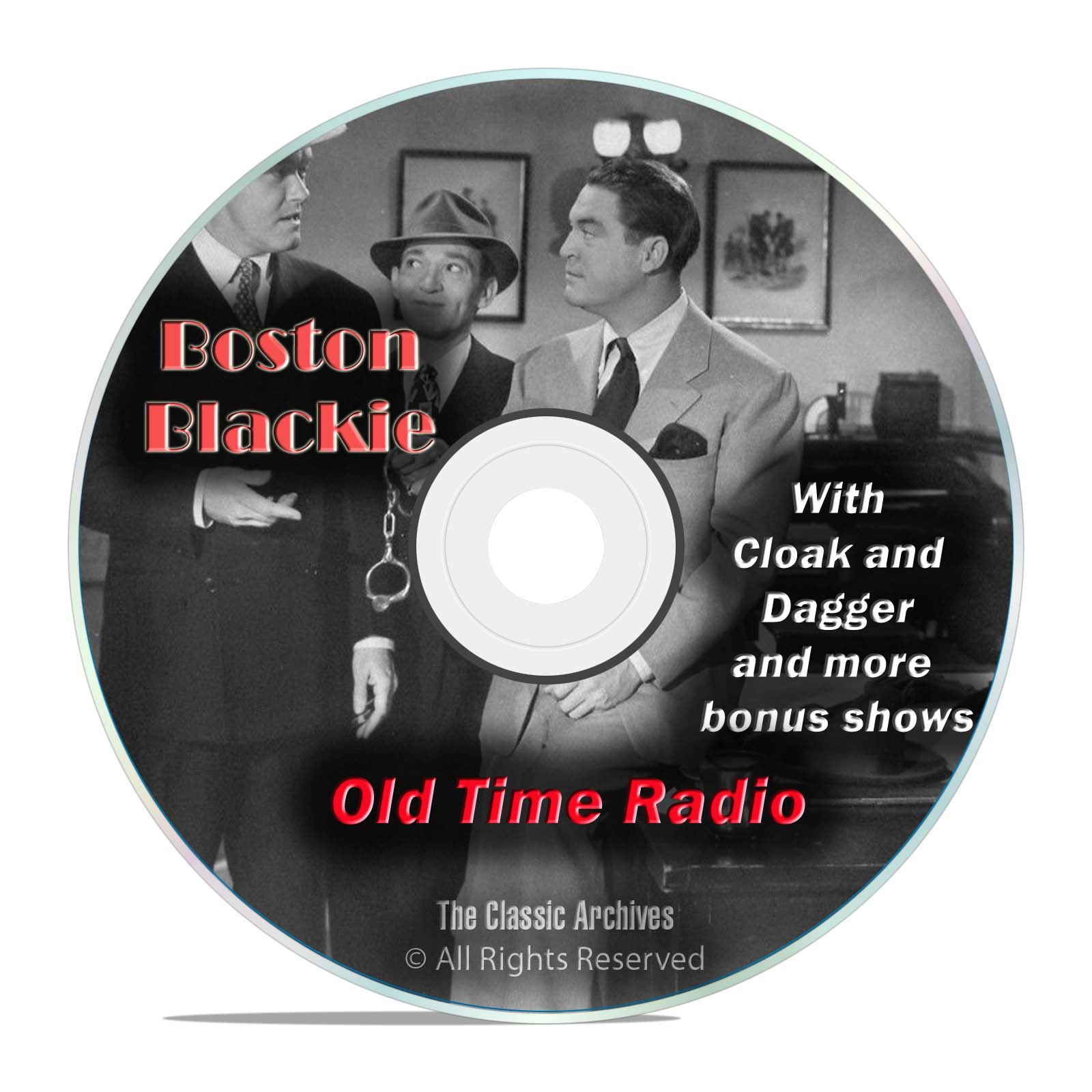 Boston Blackie, 1,060 Mystery Thriller Old Time Radio Shows, OTR, DVD