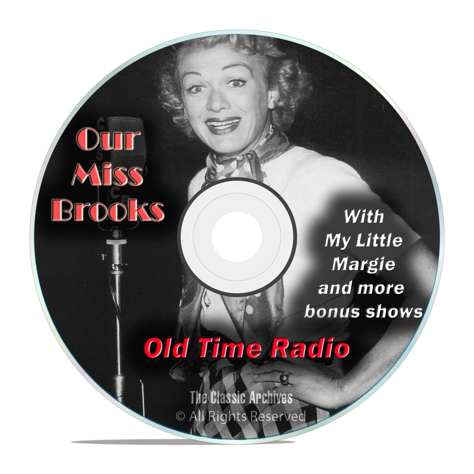 Our Miss Brooks, 971 Comedy Sitcom Old Time Radio Shows, OTR, DVD