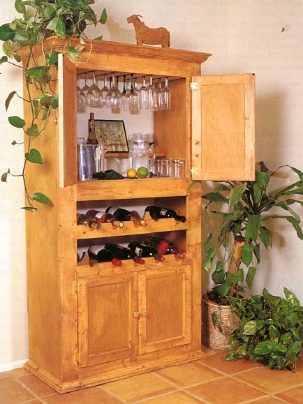 Custom Wine Cabinet, Wood Furniture Plans, IMMEDIATE DOWNLOAD