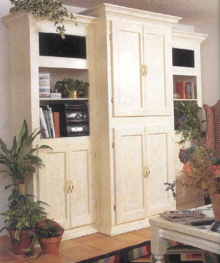 Entertainment Center, Wood Furniture Plans, IMMEDIATE DOWNLOAD