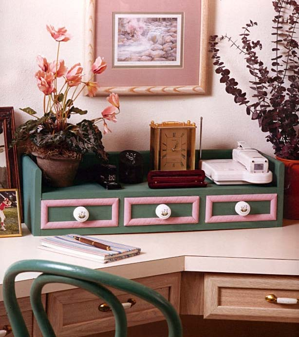 Classic Desk Organizer, Wood Furniture Plans, IMMEDIATE DOWNLOAD