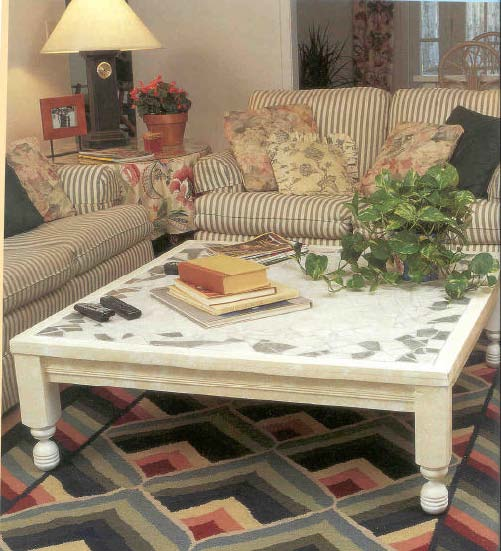 Tiled Coffee Table, Wood Furniture Plans, IMMEDIATE DOWNLOAD
