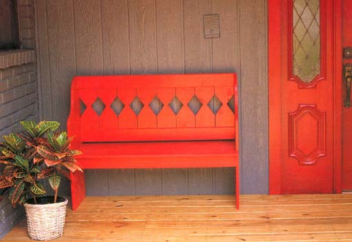 Country Bench, Outdoor Wood Plans, IMMEDIATE DOWNLOAD