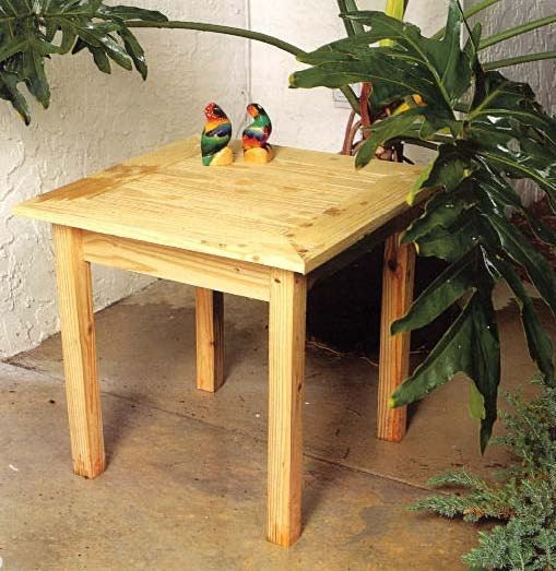 Outdoor Pine End Table, Outdoor Wood Plans, IMMEDIATE DOWNLOAD