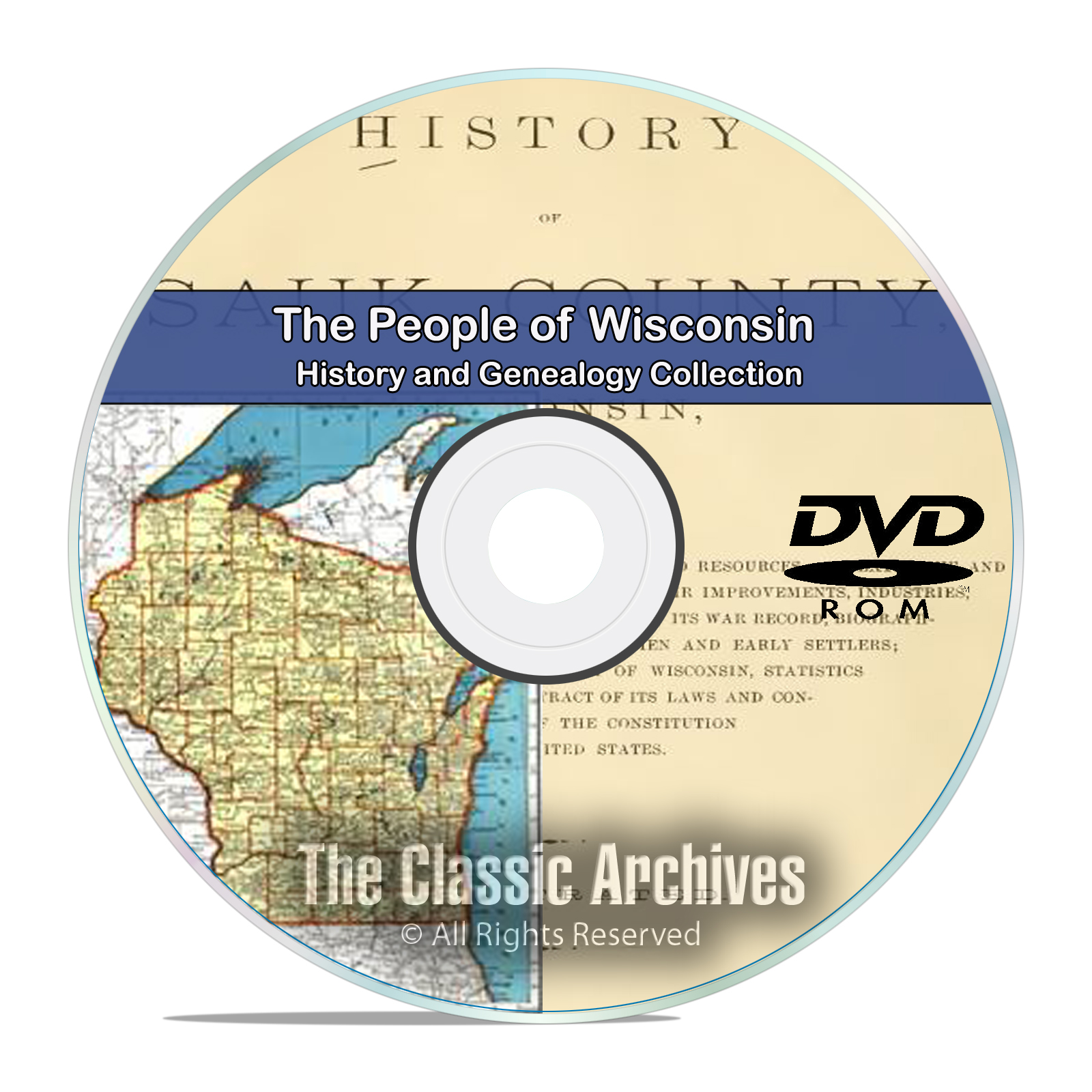 Wisconsin WI, People Cities Towns History and Genealogy 29 Books DVD