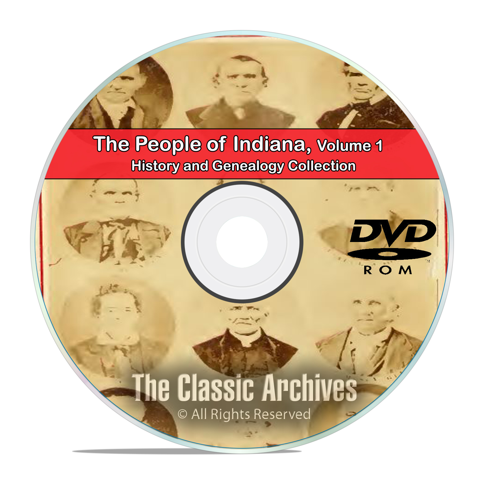 Indiana IN Vol 1 People Cities Towns, History and Genealogy 101 Books DVD