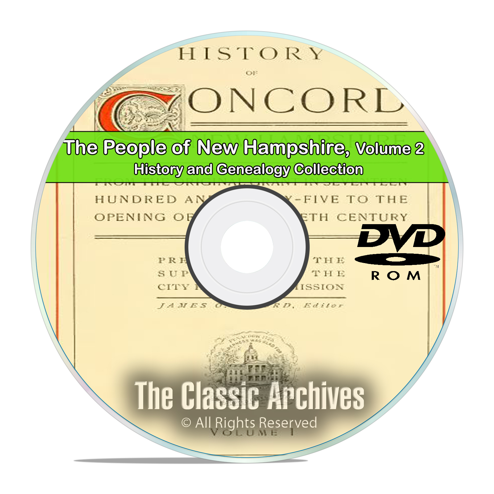 New Hampshire NH Vol 2 People Cities Towns History Genealogy 95 Books DVD - Click Image to Close
