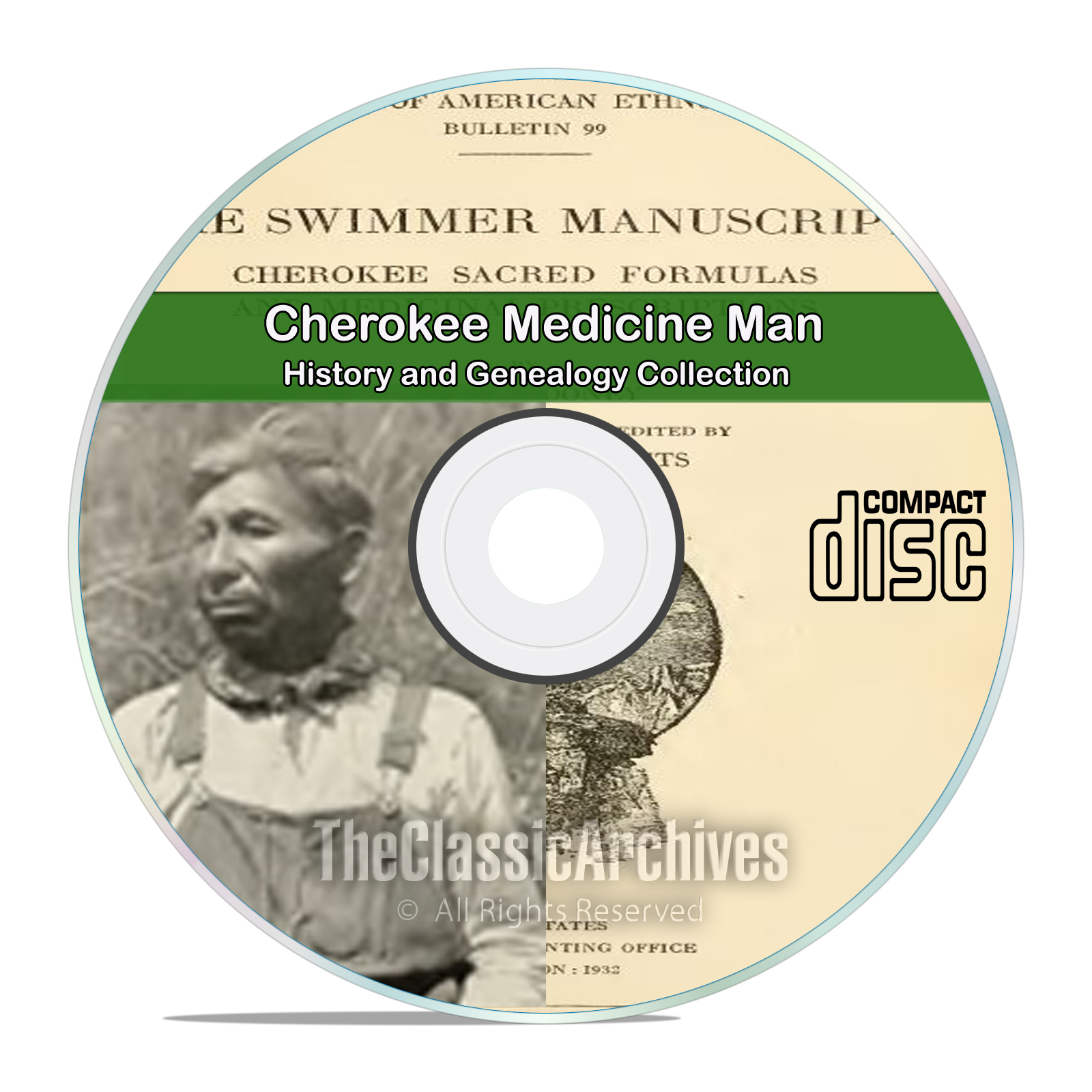 Old Time Folk Medicine, Cherokee Healing, Antique Holistic Treatments CD