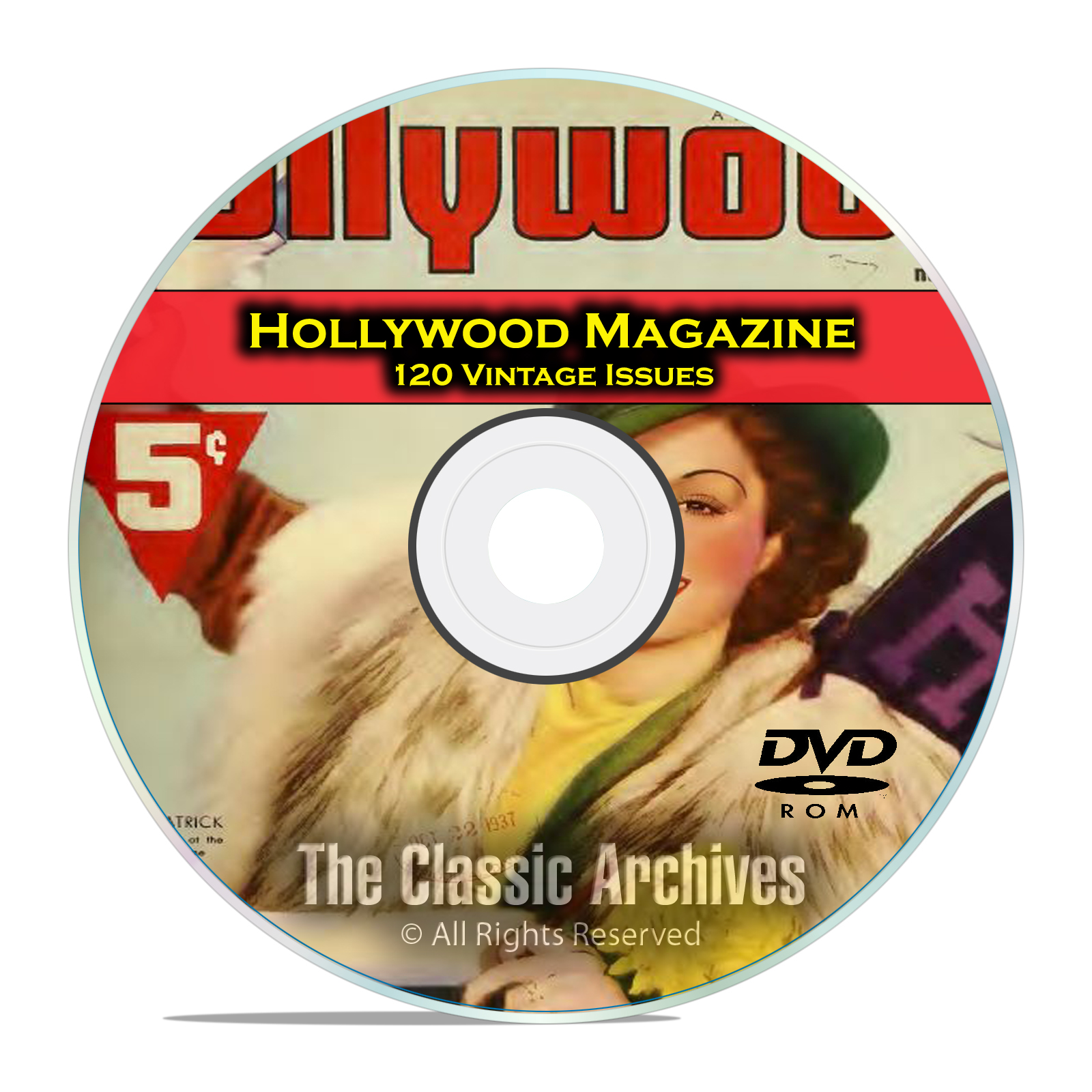 Hollywood Magazine, 120 Vintage issues, Golden Movie Age, 1934-1963, DVD
