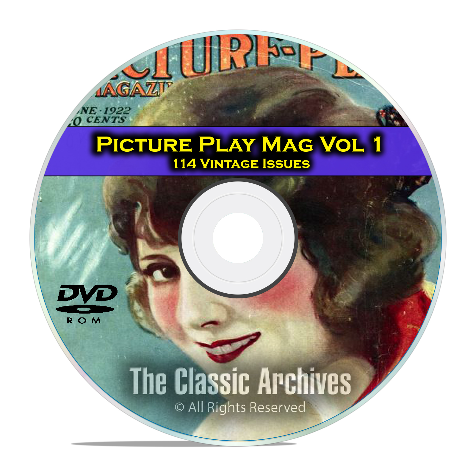 Picture Play Magazine, Vol 1, 114 Issues, Golden Age of Hollywood, DVD