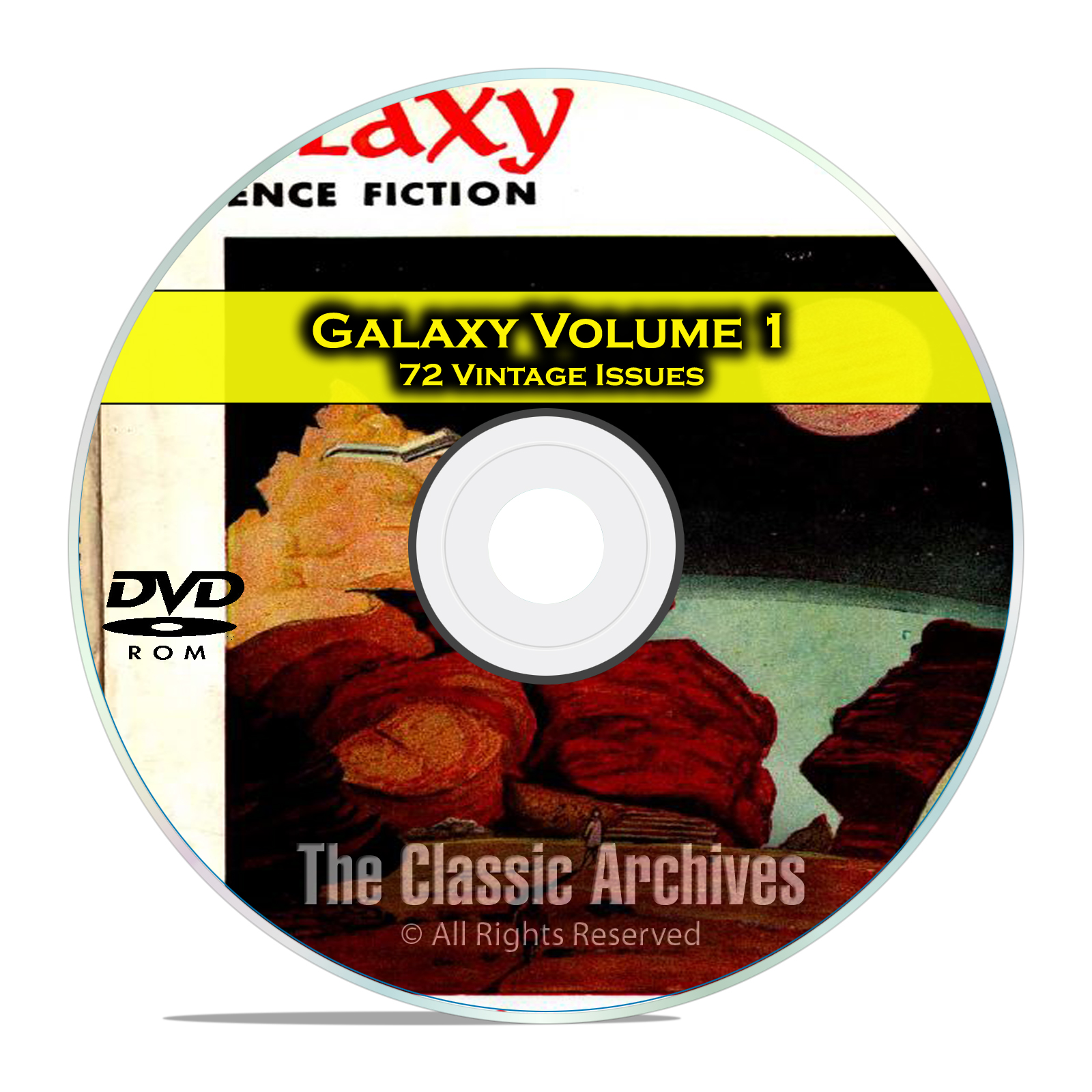 Galaxy, Vol 1, 72 Vintage Pulp Magazine, Golden Age Science Fiction DVD