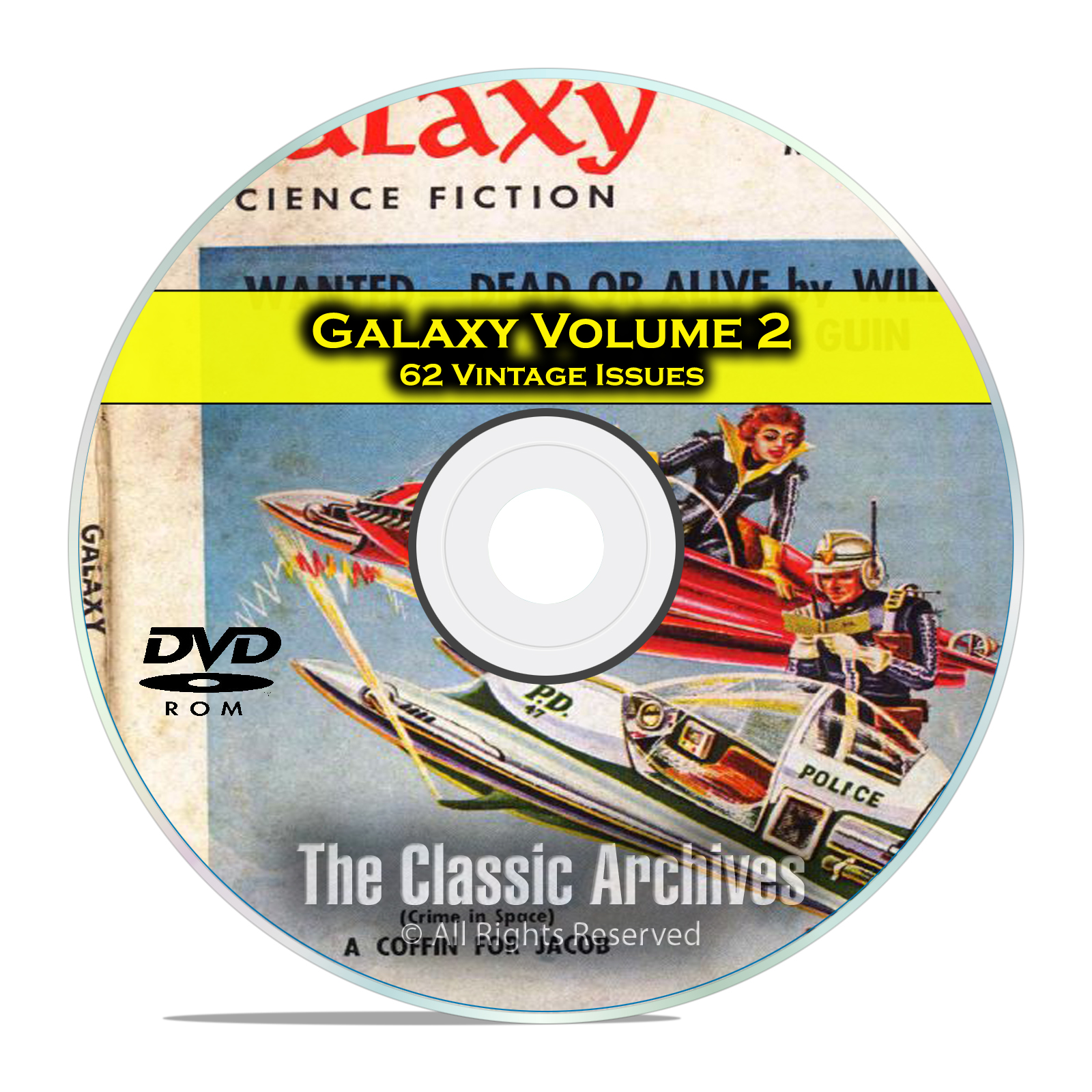 Galaxy, Vol 2, 62 Vintage Pulp Magazine, Golden Age Science Fiction DVD